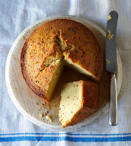 Recipe for Caraway Seed Cake from Artisan Home Baking by Meg Rivers and cookbook & Zabar's Classic Sweets & Coffee Bundle giveaway