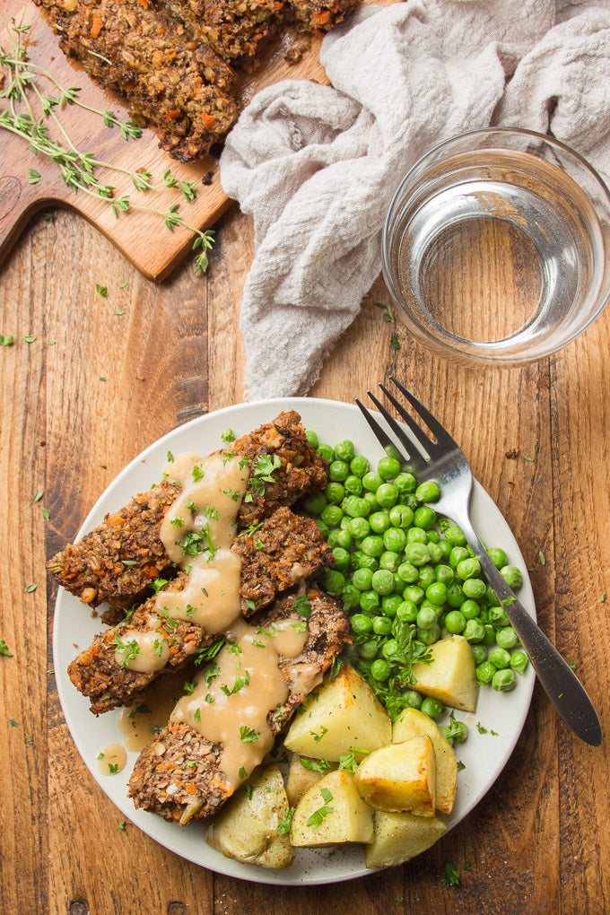 This vegan nut roast is the perfect vegan main dish for special occasions! Made with a mix of veggies, mushrooms, nuts and seeds, it's packed with savory flavor and easy to make.