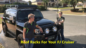 This short clip will show you two different types of roof rack you can install on your FJ Cruiser.