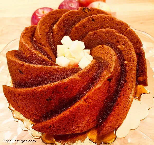 The inspiration for this Vegan Honey Bundt Cake came from a conversation I had with my friend, the best-selling vegan writer, Nava Atlas