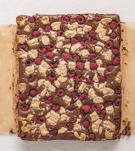 Recipe for Raspberry Halva Brownies from Dappled by Nicole Rucker and cookbook & Zabar's New York Bakery Bundle giveaway