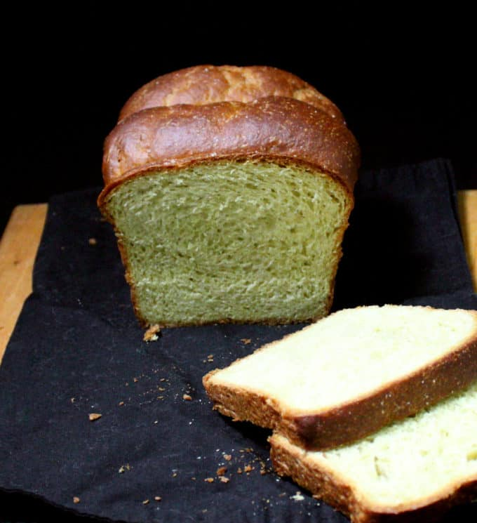 A flaky Avocado Brioche made without butter and eggs