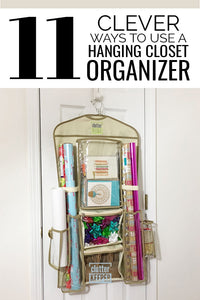 Use a hanging closet organizer to bring order to your busy home! Learn how you can use this handy tool to store and organize stuff where you need it most. A hanging closet organizer is a great tool to store your stuff while saving space! That's why...