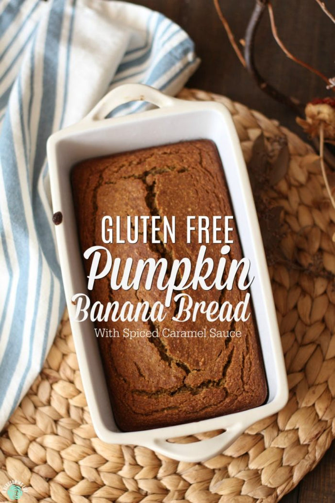 This delicious pumpkin bread has a lovely oat texture greeted with a light sweetness from maple syrup and banana and the beautiful, warm flavor of pumpkin spice