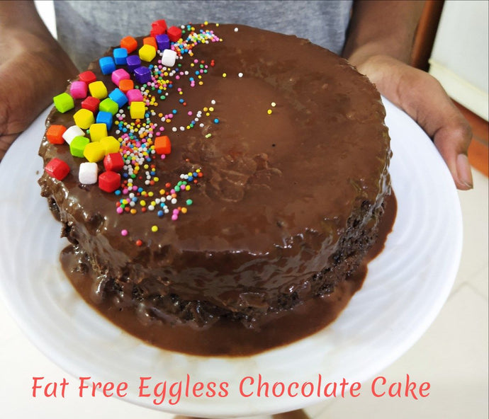 Fat Free Eggless Chocolate Cake is a delicious cake without butter and egg