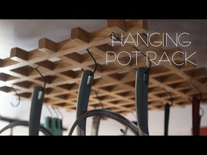 In this video I make a hanging pot rack for over my kitchen island