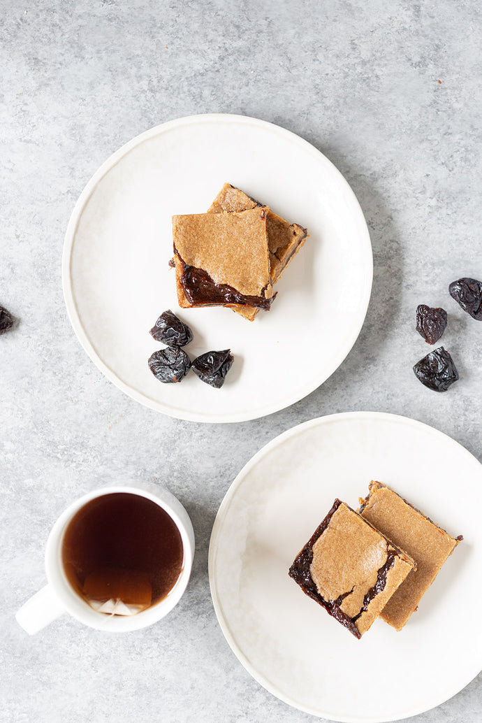 Homemade California Prune Bars! If you like fig newtons, then you will LOVE this healthy homemade version made with Prunes! Lightly sweetened and vegan, perfect for kids.