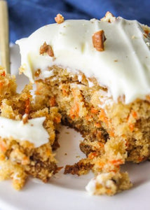 Carrot Cake with a nice thick layer of cream cheese frosting