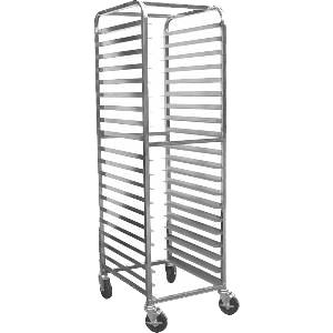 BK Resources Full Height Bun Pan Rack Front Load Round Top 20-1/4