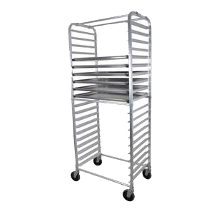 BK Resources Full Height Bun Pan Rack Side Load Round Top 20-1/4