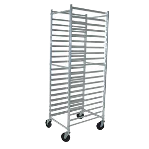 BK Resources Full Height Bun Pan Rack Front Load Square Top 20-1/4