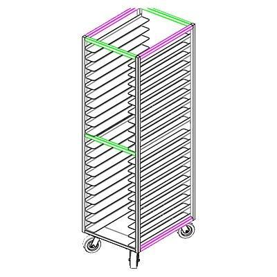 GSW USA ASR-2022WH All Welded Stainless Steel Universal Bun Pan Rack, ETL
