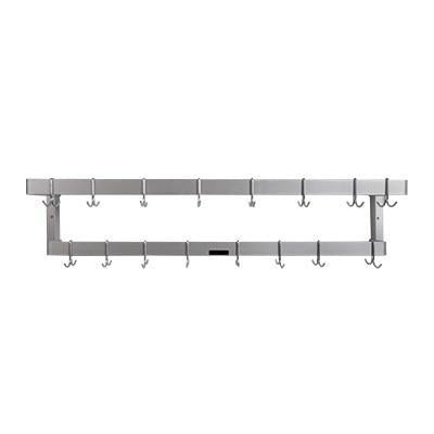 H.A. Sparke PP-8 Pot & Pan Rack, wall mount, double, 53