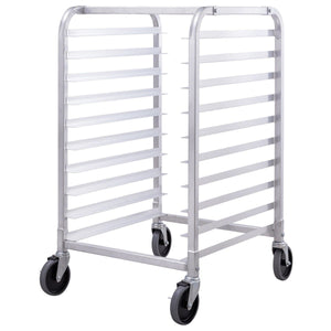 10 Sheet Aluminum Bakery Rack Rolling Commercial Cookie Bun Pan