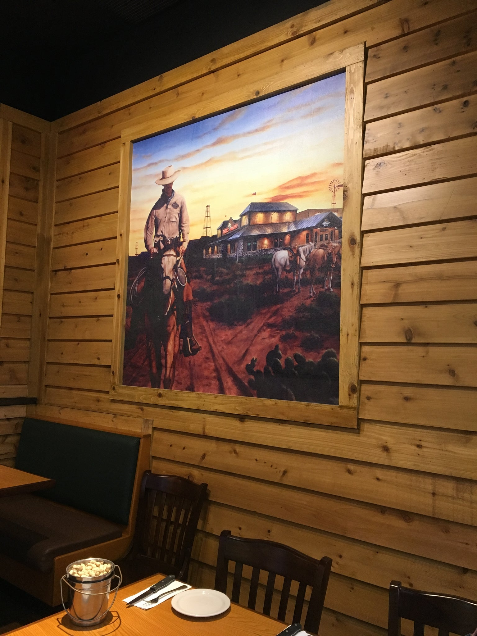 Texas Roadhouse Custom Canvas and Light Boxes