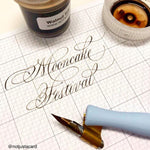 6 & 7 MARCH 2021 - Traditional Copperplate For Beginners (Majuscules/Uppercase) - Online ZOOM Class