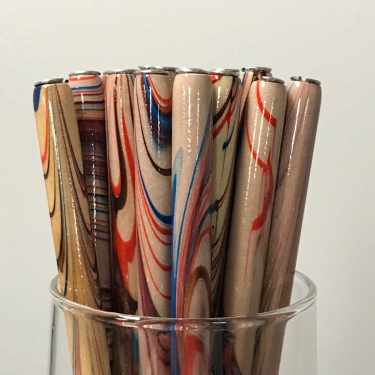 Straight Penholder - Natural Marbled
