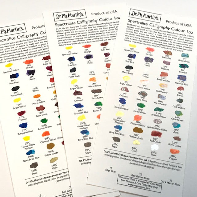Dr. Ph. Martin's Spectralite Colour Chart