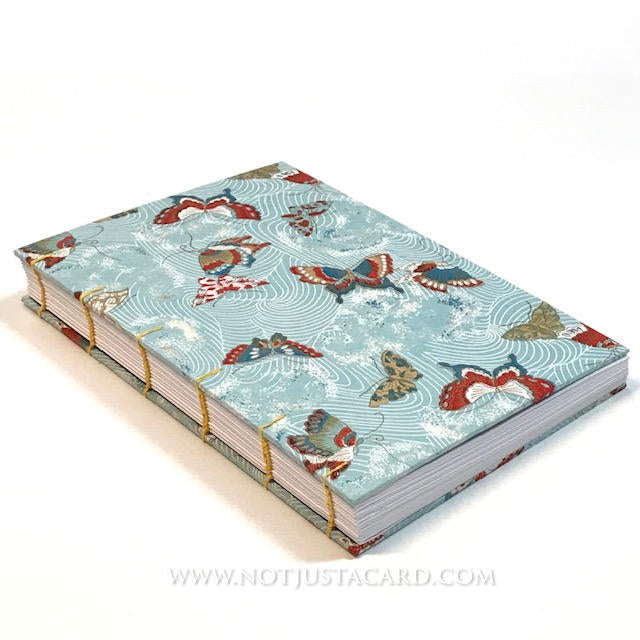 Coptic Stitch Bookbinding - Blue Butterfly