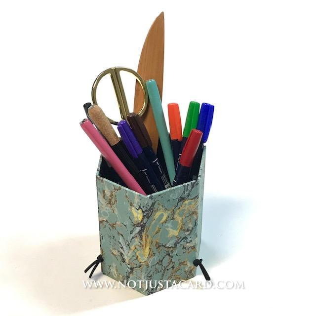 22 SEP - Box Making For Beginners (Foldable Pen Holder) - Online ZOOM Class