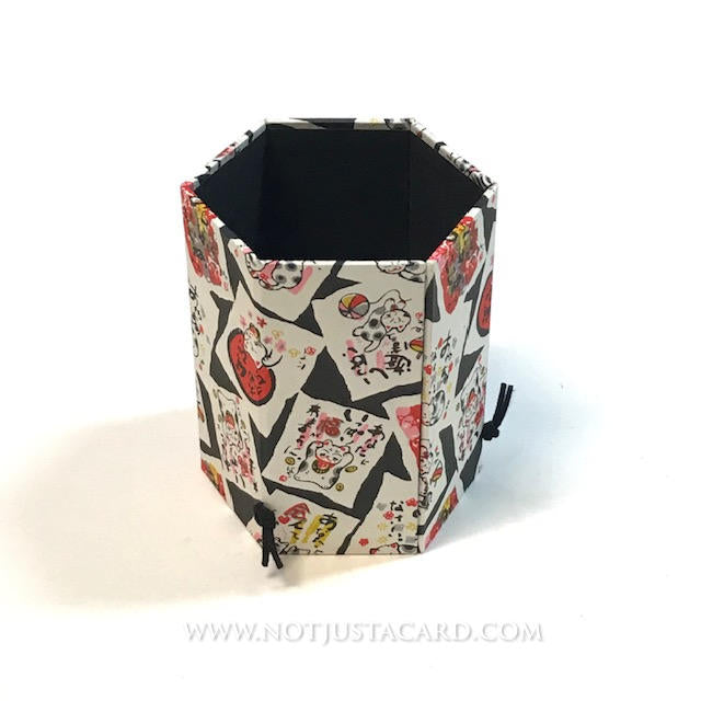 Foldable Pen Holder - Cats on Black