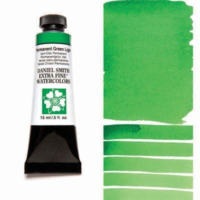 Daniel Smith Watercolour 15ml Tube - Permanent Green Light