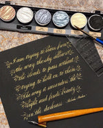 22nd & 23rd MAY 2021 - Traditional Copperplate For Beginners (Majuscules/Uppercase) - Online ZOOM Class
