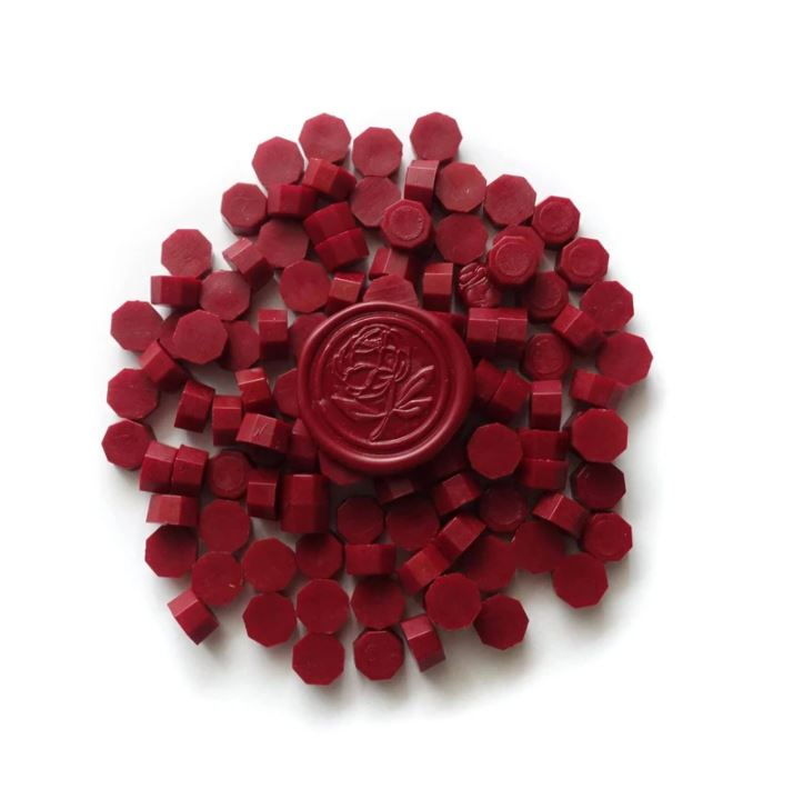Wax Granule Beads - Deep Crimson Red