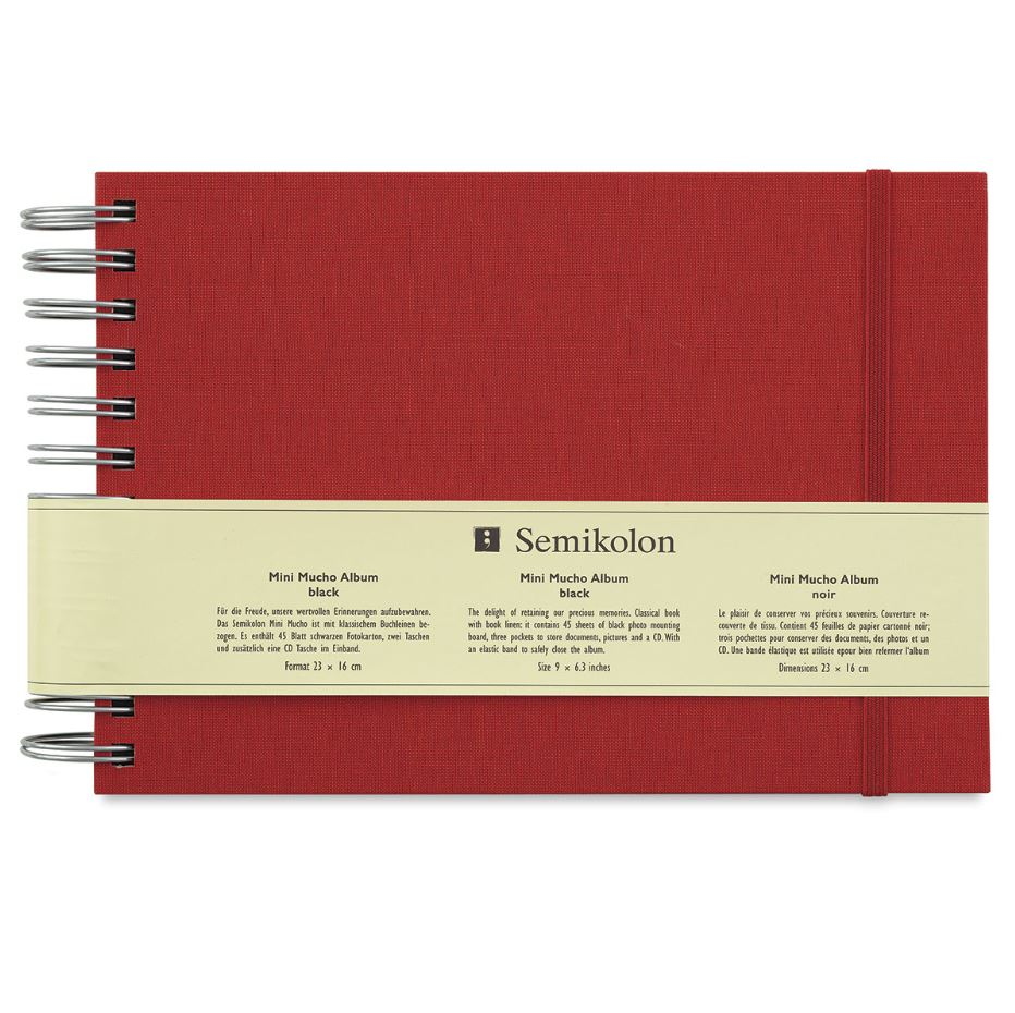 Semikolon Mini Mucho Album - Burgundy Cover