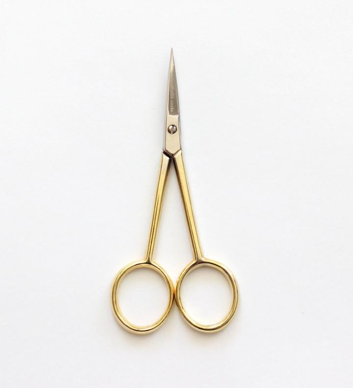 Silhouette Scissors Gold Handle