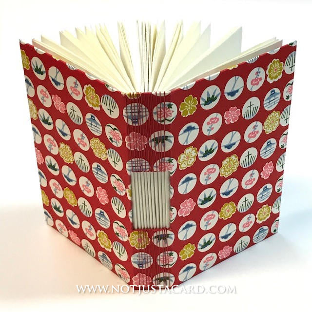 Buttonhole Stitch Bookbinding - Red Circles