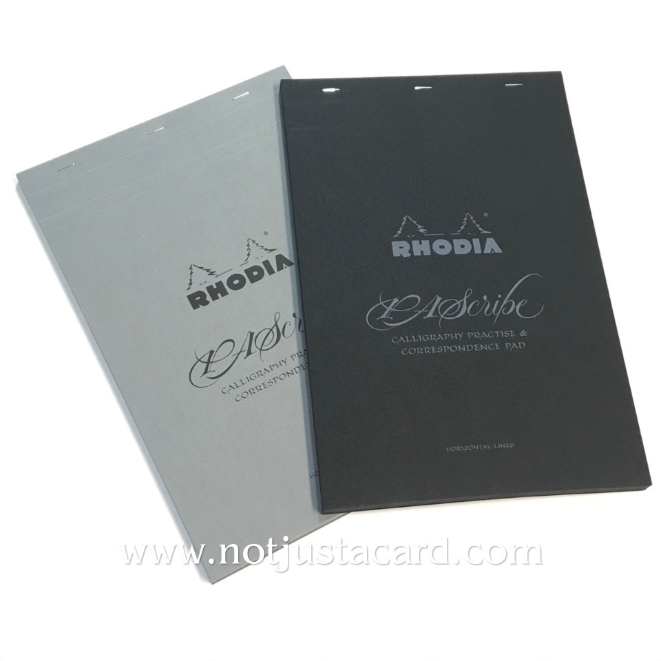 Rhodia PAScribe Calligraphy Practise and Correspondence Pad Black Carb'On No.19