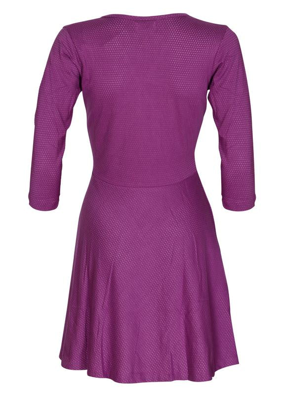 Overlap Yoke Skater Dress