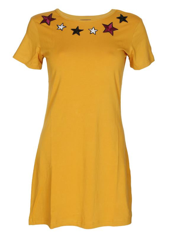 Star Embroidered Tee Dress