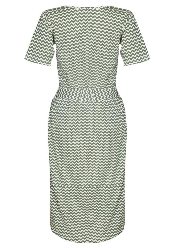 Chevron Print Midi Dress