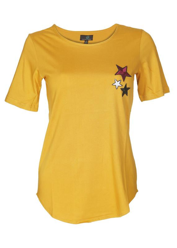 Star Embroidery Top