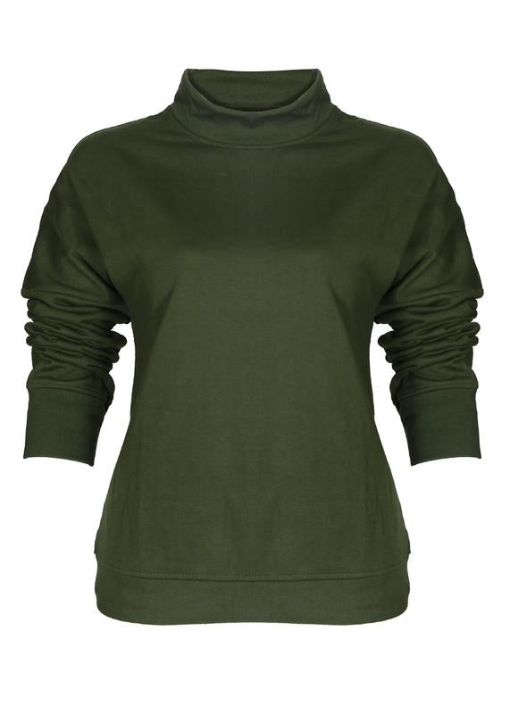 Hi-neck Sweatshirt