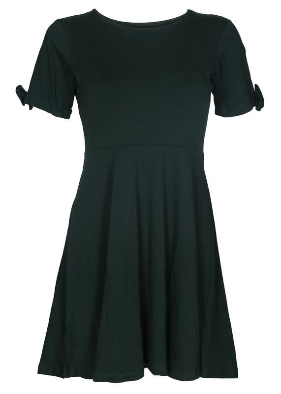 Bow Sleeves Skater Dress