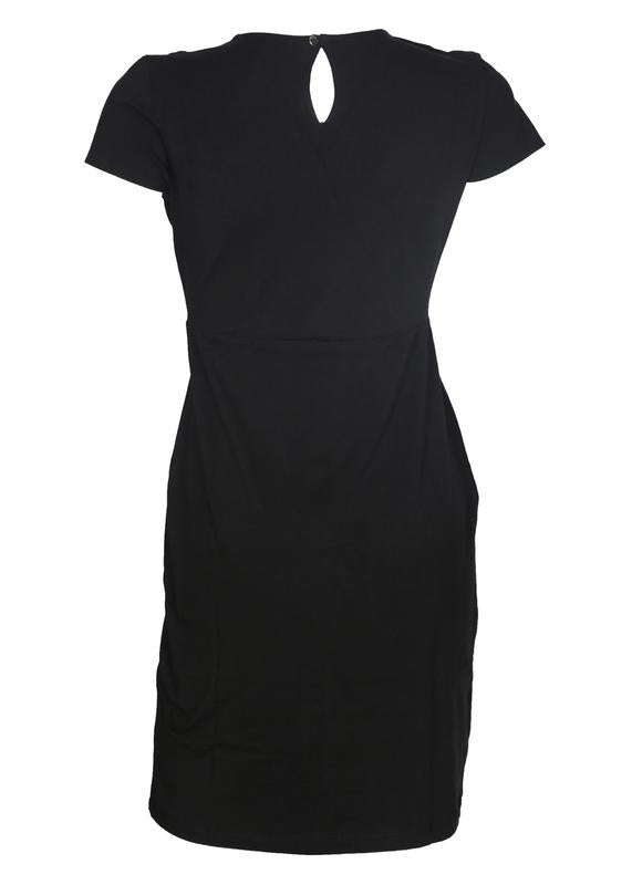 Pleated Yoke Bodycon Dress