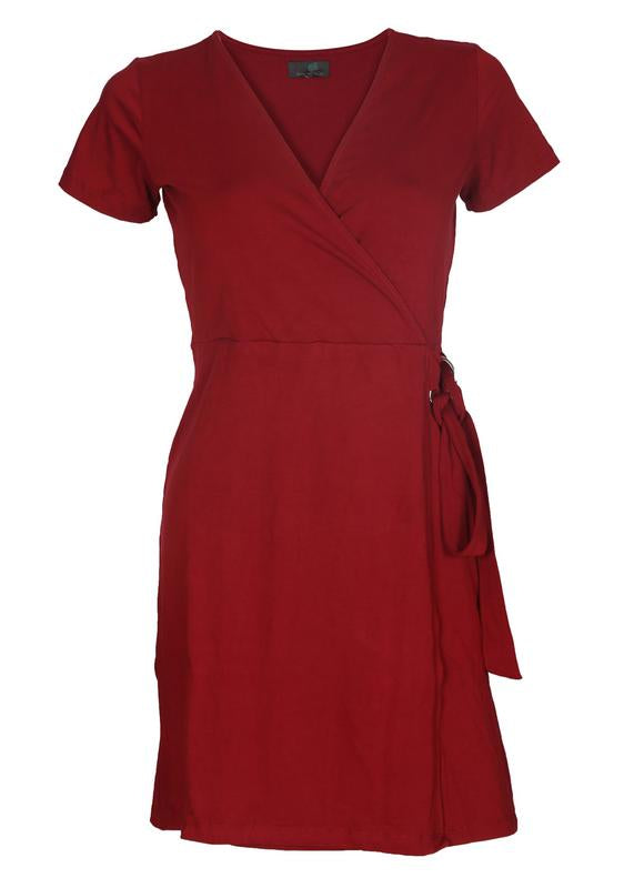 D-Ring Wrap Dress