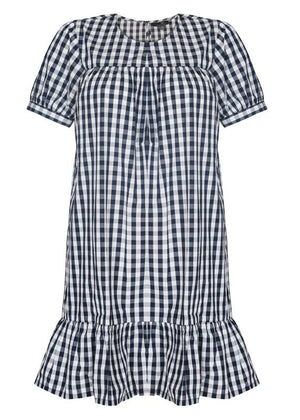 Checkered Baby Doll Dress