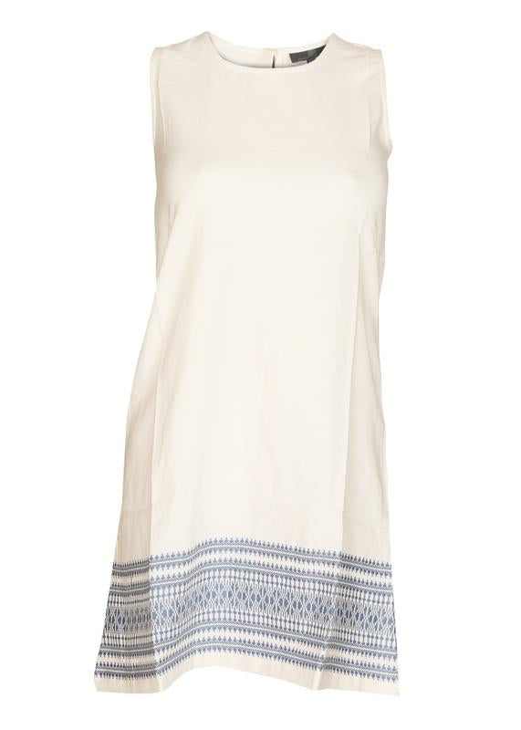Self-Embroidered Shift Dress