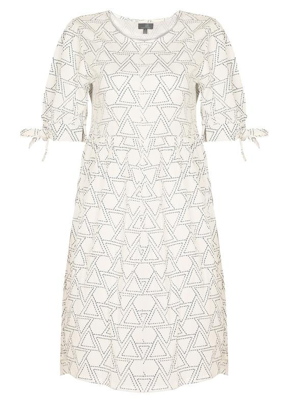 Sleeves Tie-up Embroidered Dress