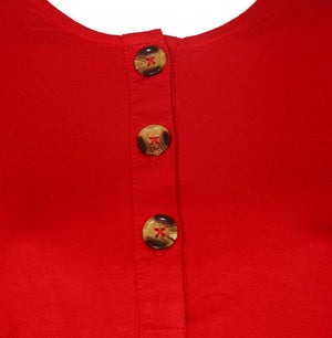 Solid Horn Button Top