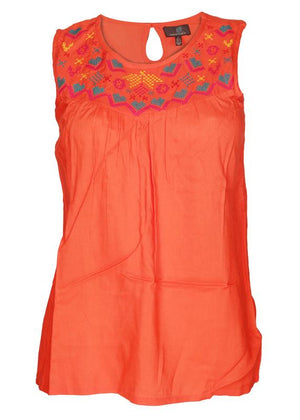Sleevesless Embroidered Top