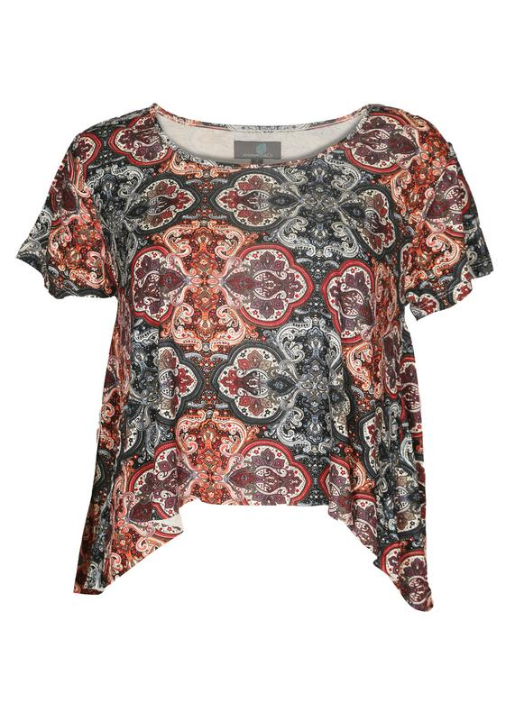 Printed High Low Top