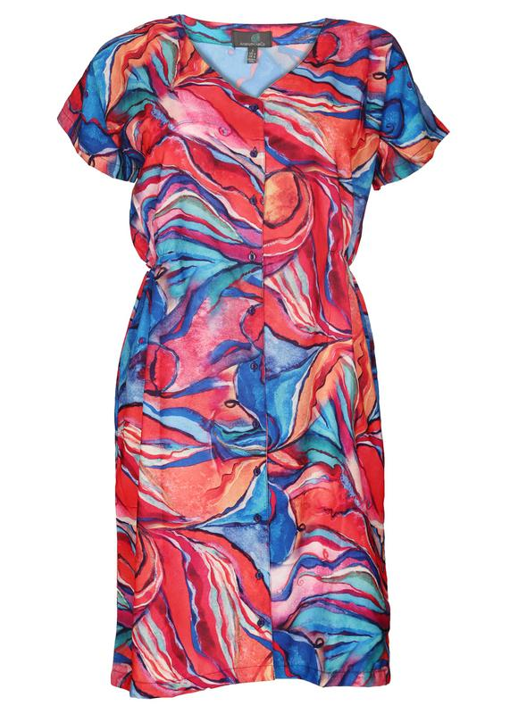 Cinched Waist Muticolor Dress