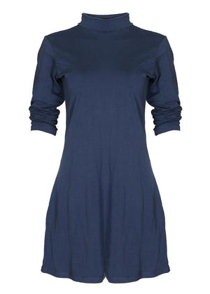 Puff Sleeves Flare Dress