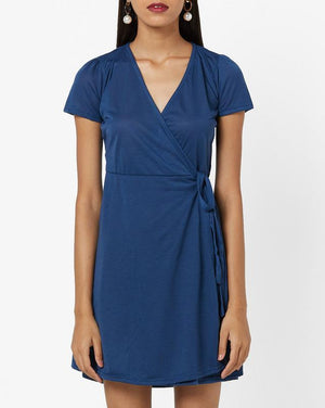 Waist Tie-up Wrap Dress