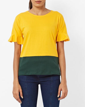 Dual Color Blocked Top